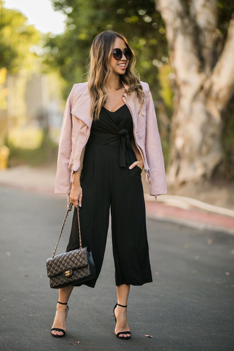 82a63010abb lace and locks petite fashion blogger black culotte jumpsuit – 07 ...