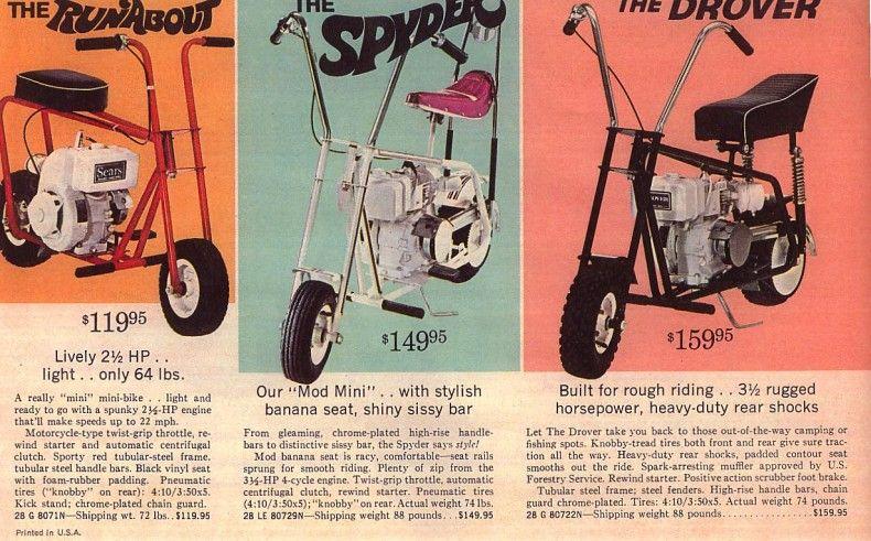Sears Minibike Brochure Mini Bike Bike Bikes For Sale