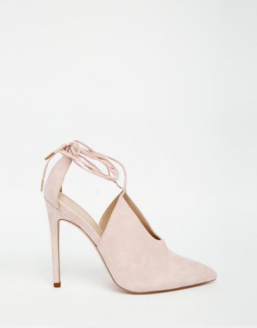ASOS | ASOS PROPELLOR Lace Up Pointed Heels at ASOS