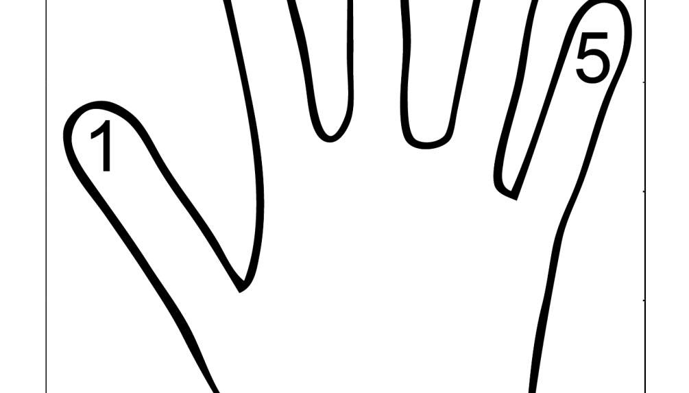 coloring pages counting fingers - photo#4