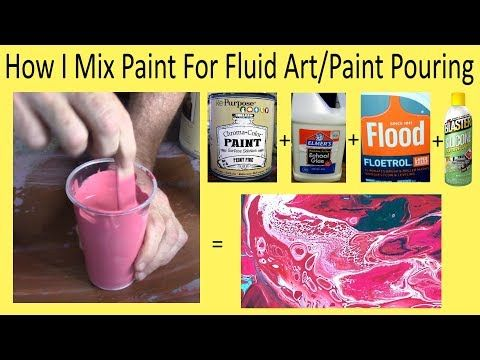 19 Boring But Essential Paint Pouring Mixing Video Showing The Exact Fluidity Used In My Pours Acrylic Pouring