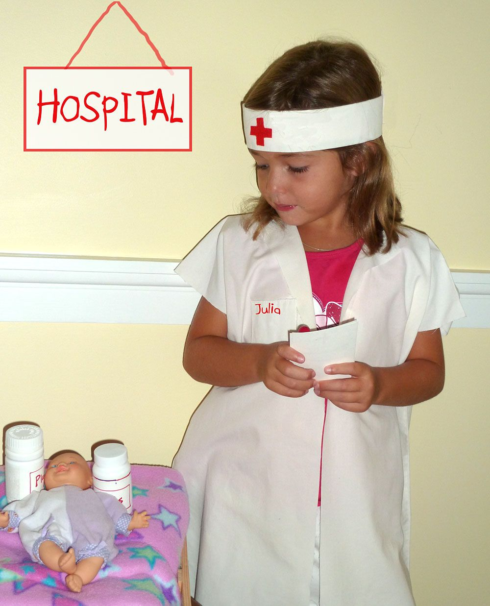 d31a5c1d706d9 DIY Nurse Costume We love making kids dressup costumes for play or for  Halloween. This adorable Nurse Costume or Doctor Costumeis a No-sew costume  with ...