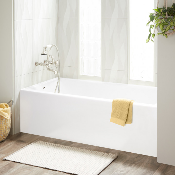 60 X 30 Orchid Acrylic Alcove Tub Alcove Bathtubs Bathtubs Bathroom Soaking Tub Shower Combo Tub Shower Combo Shower Tub What is an alcove tub