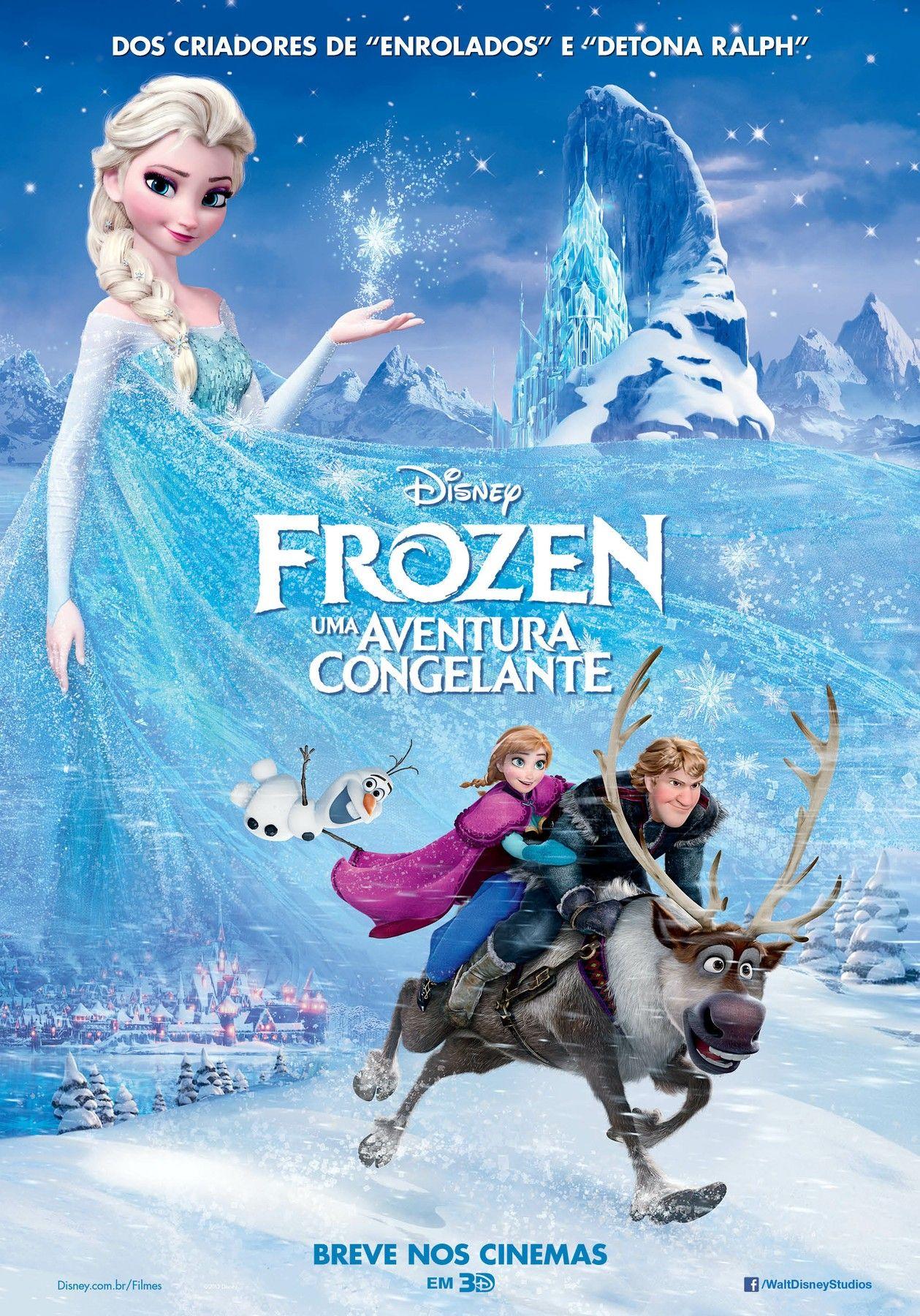 Frozen Uma Aventura Congelante Dublado Posteres Da Disney
