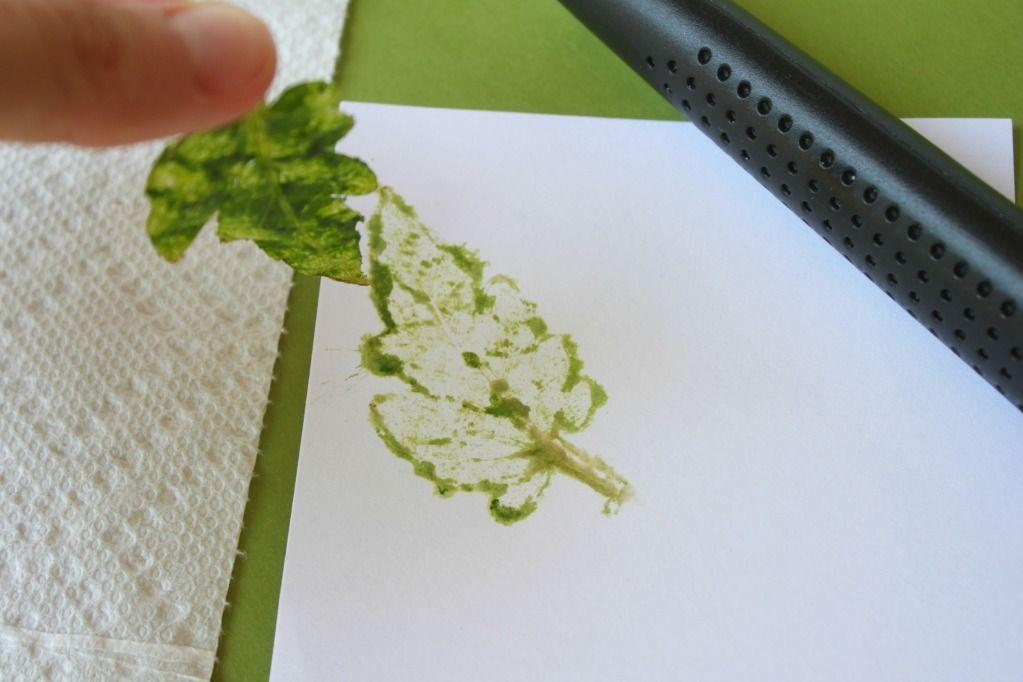 Blätter drucken - ohne Farbe