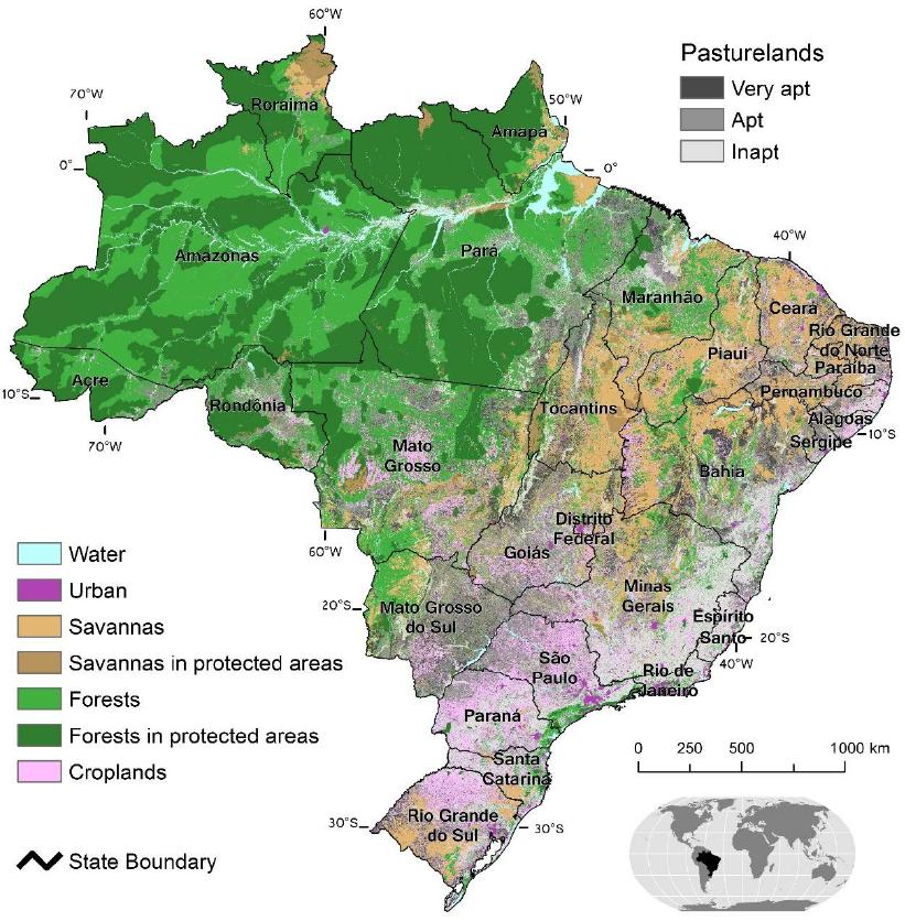 Land Cover Map Of Brazil Map Brazil Ecology