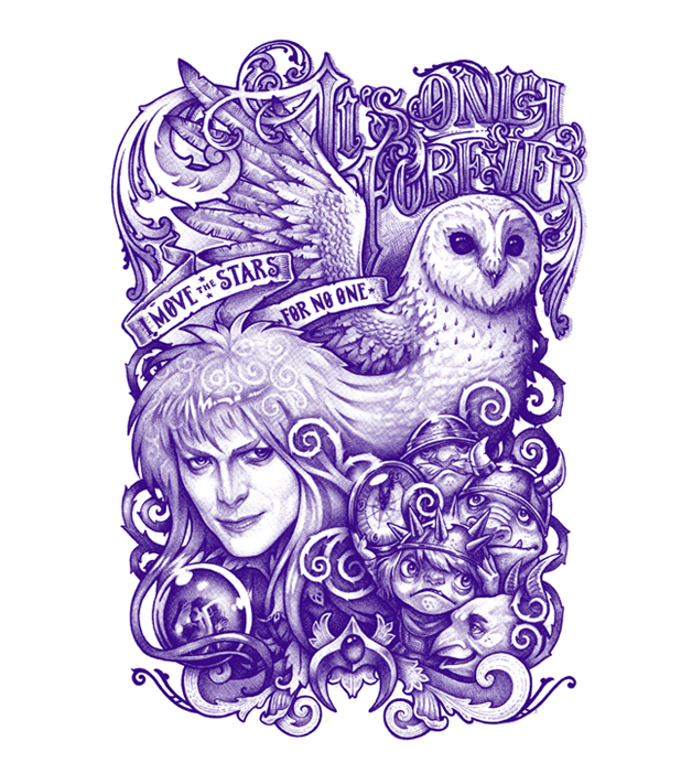 Simple Labyrinth Movie Tattoo: Today Only At TeeFury, So Act Fast