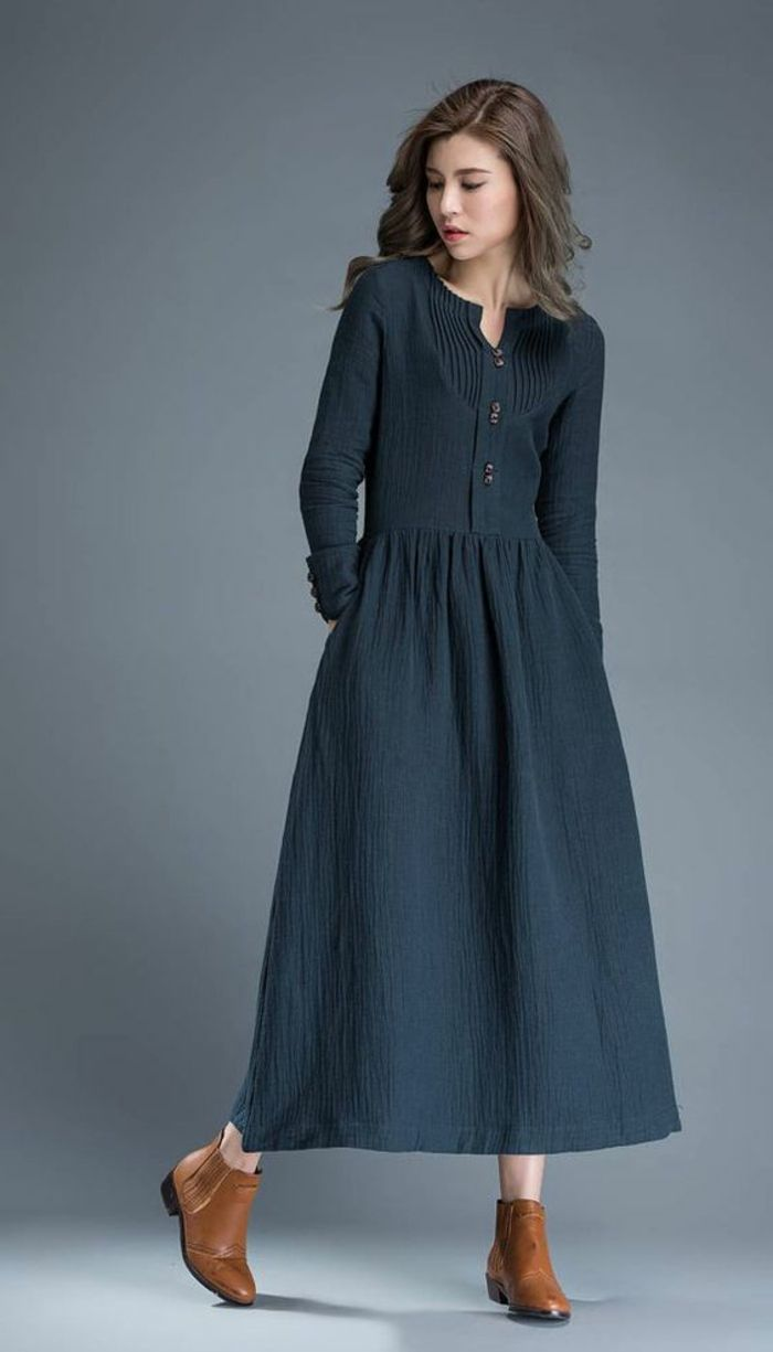 1001 + idées de tenue féminine avec robe longue noire | Robe longue noire, Robe longue et Robe