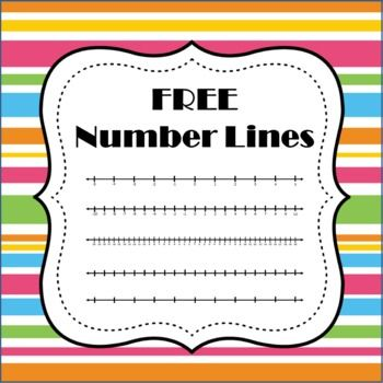 Free Number Lines Number Line Middle School Math Math Lessons