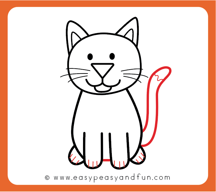 How to Draw a Cat , Step by Step Cat Drawing Instructions