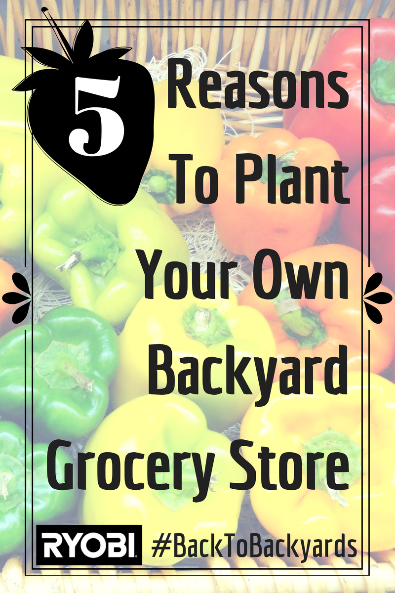 5 Reasons to Plant Your Own Backyard Grocery Store #RYOBIOutdoor #BackToBackyards