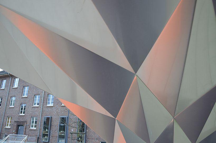 tal friedman origami fold finding pavilion