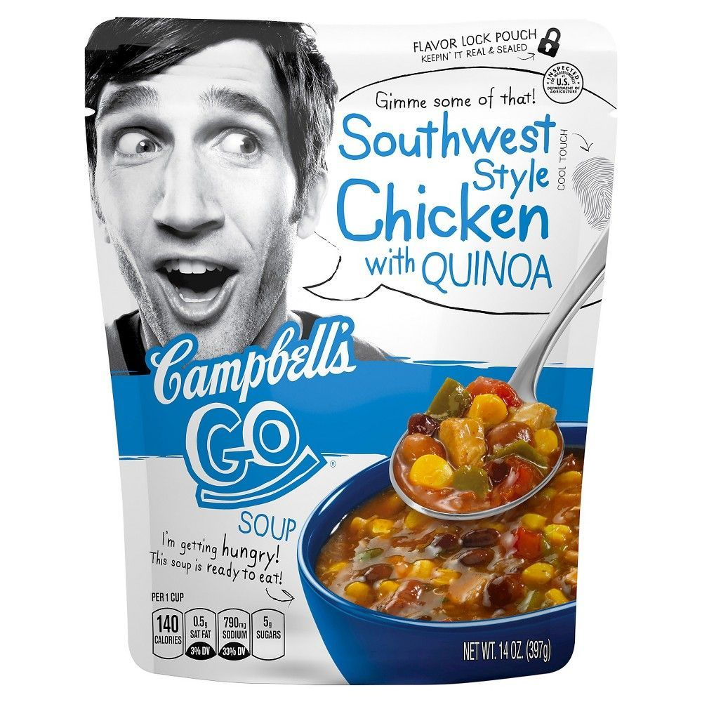 Campbell's Go Southwest Style Chicken with Quinoa Soup 14 oz