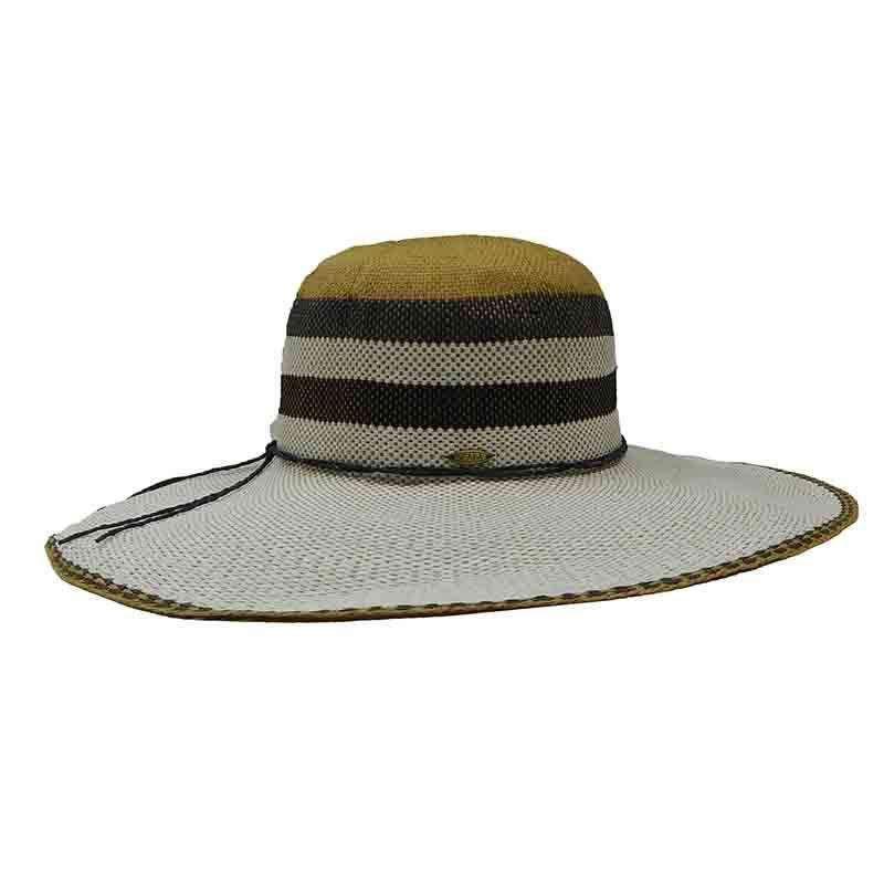 559b59c4 Striped Crown Bangkok Toyo Summer Floppy Hat - Scala — SetarTrading Hats