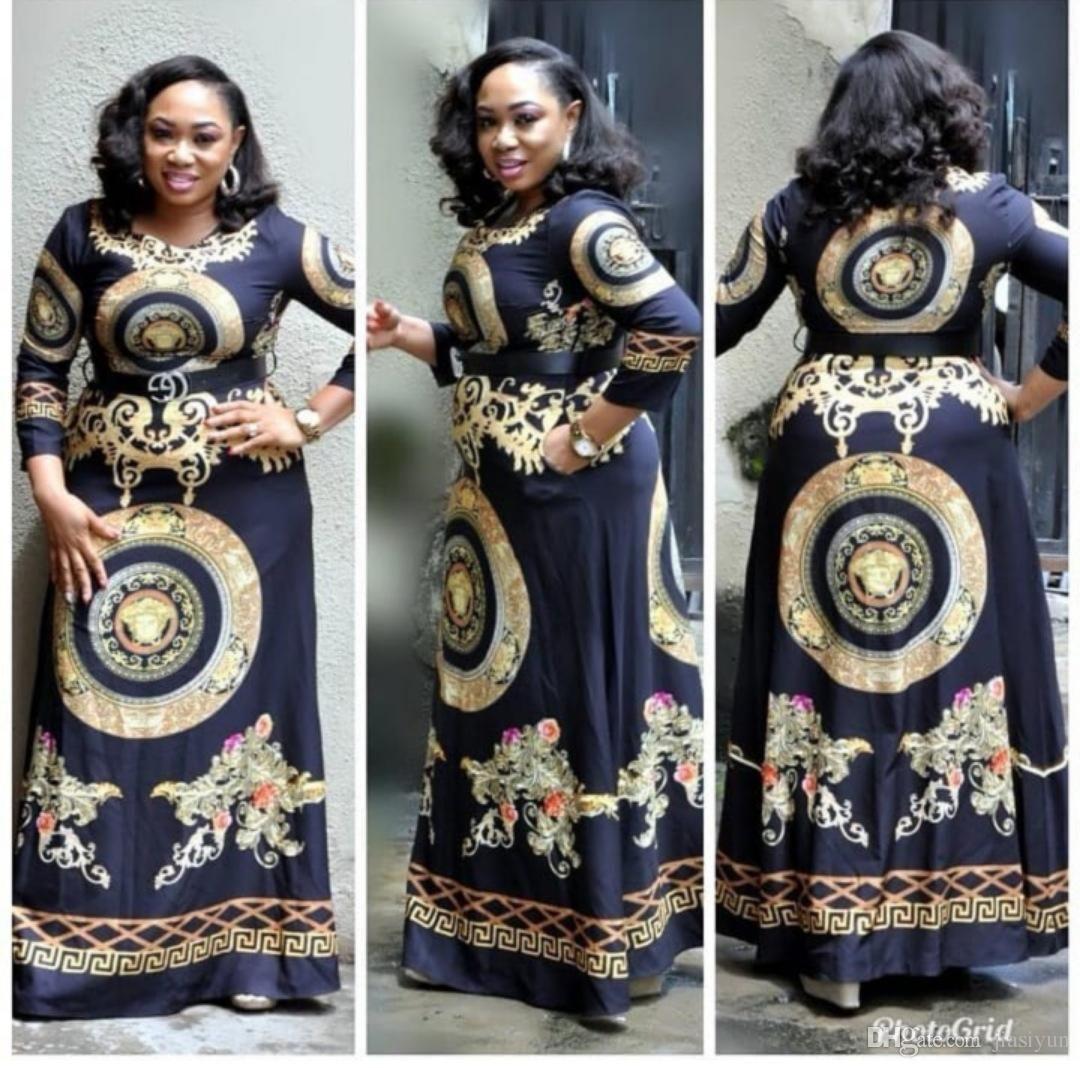 2019 Fashion Africa Hot Styles Women Dress Long Dress