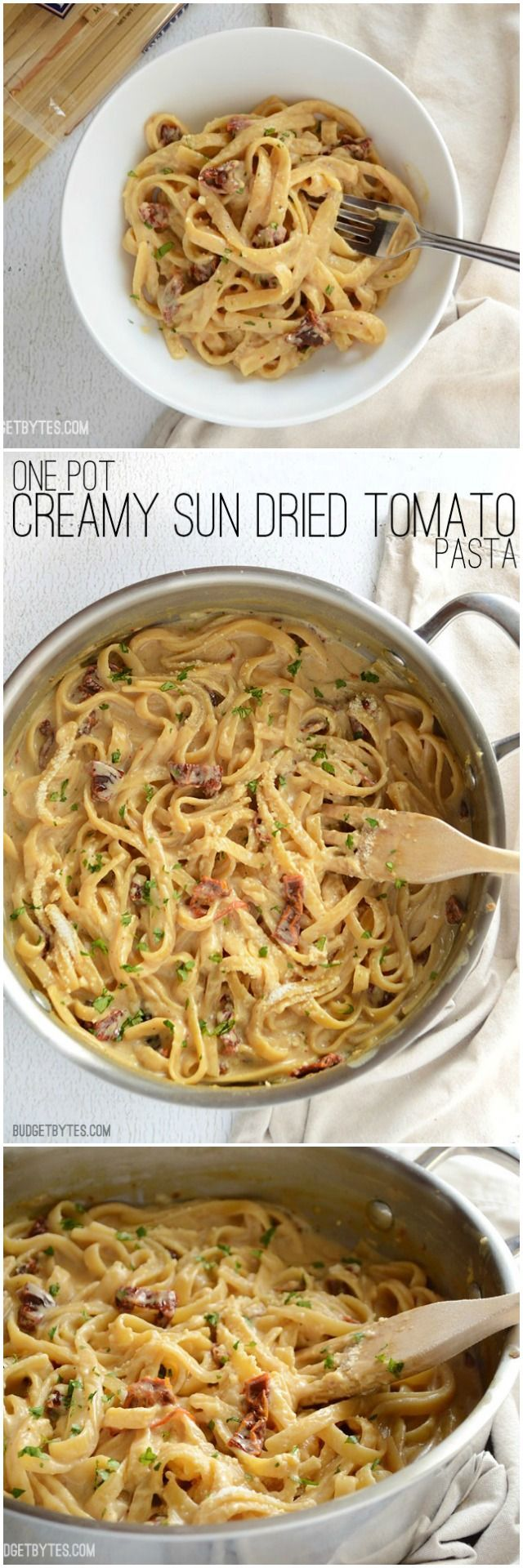 Pot Creamy Sun Dried Tomato Pasta This incredibly fast and easy Creamy Sun Dried Tomato Pasta cooks in 30 minutes and uses just one pot. Make dinner delicious any night of the week! - This incredibly fast and easy Creamy Sun Dried Tomato Pasta cooks in 30 minutes and uses just one pot. Make dinner delicious any night of the week! -