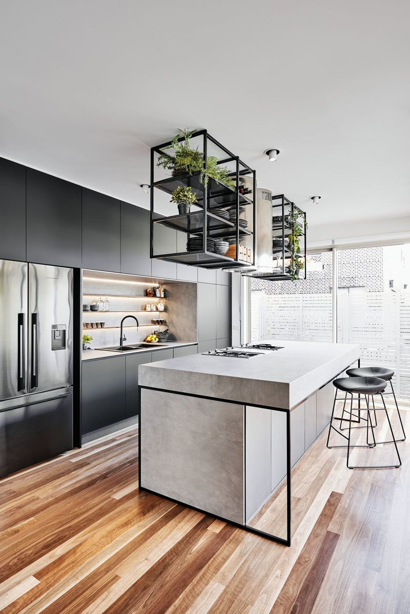 A Modern Industrial Look Was Created For This Townhouse