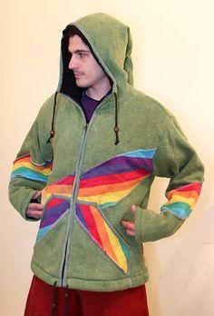 Men's Winter Jacket - Pixie jacket with removable hoodie - Very Warm Jacket - Burning man 5opSOGXJV
