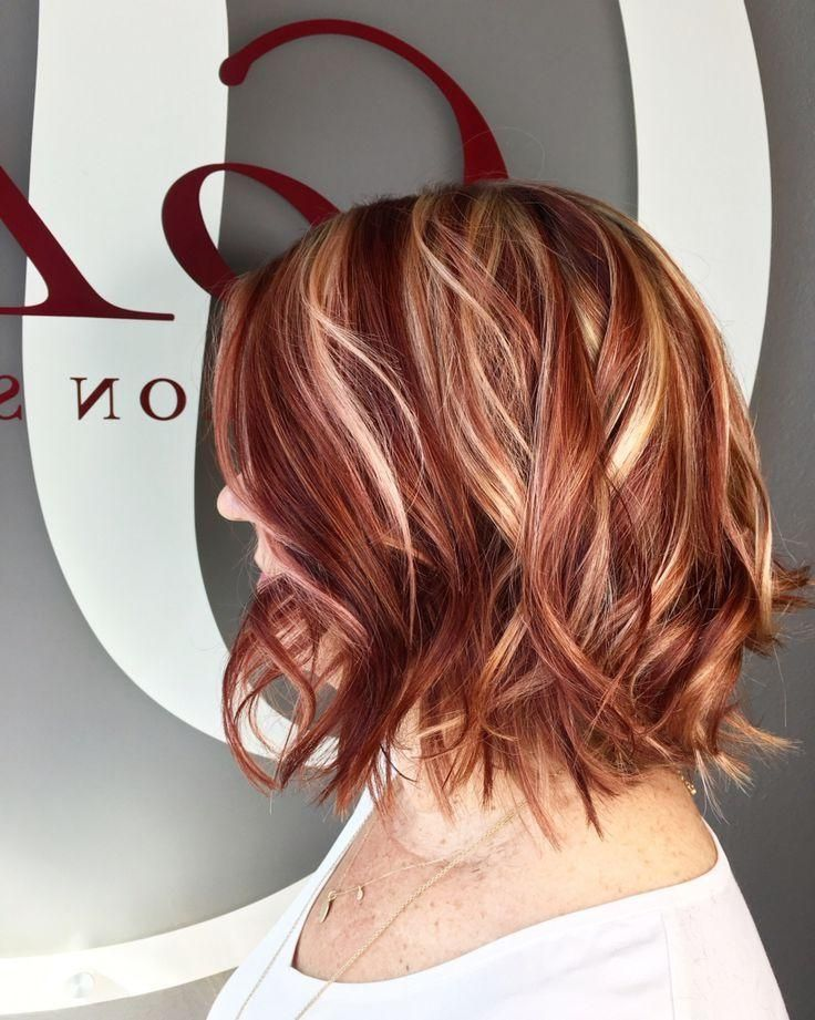 24 Coolest Short Hairstyles With Highlights Haircuts Hairstyles 2020 In 2020 Short Hair Highlights Red Hair With Blonde Highlights Red Blonde Hair