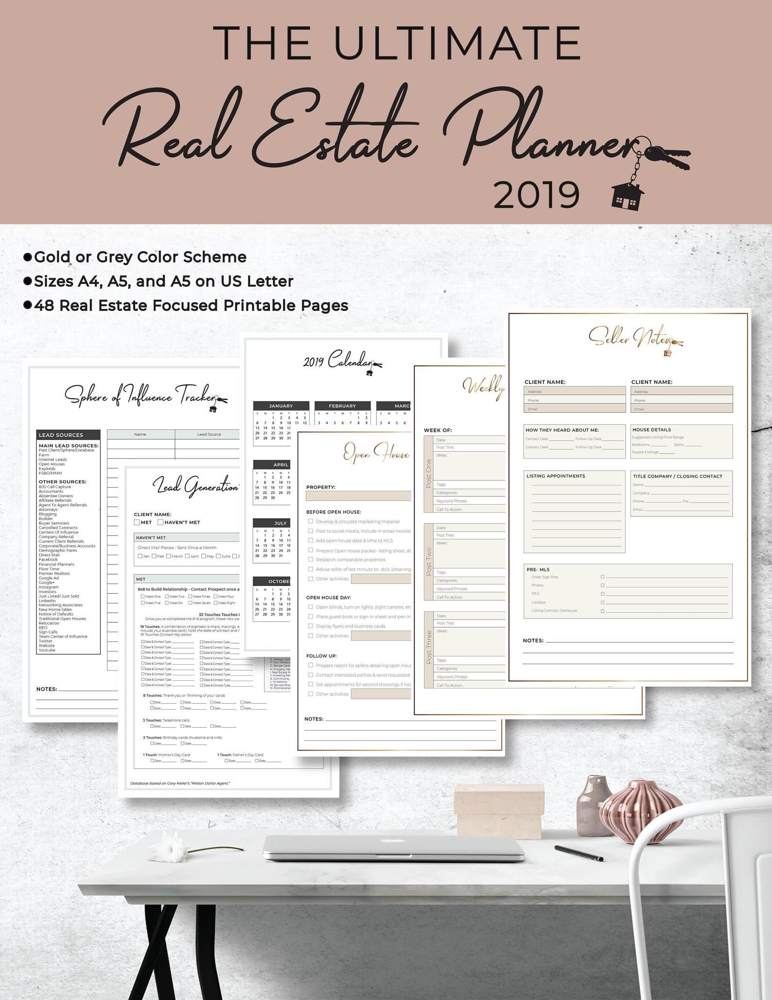 Ultimate 2020/2021 Real Estate Business Planner Instant | Etsy