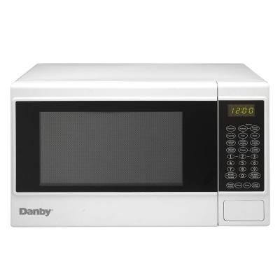 Danby 1 4 Cu Ft Countertop Microwave In White Dmw14sa1wdb