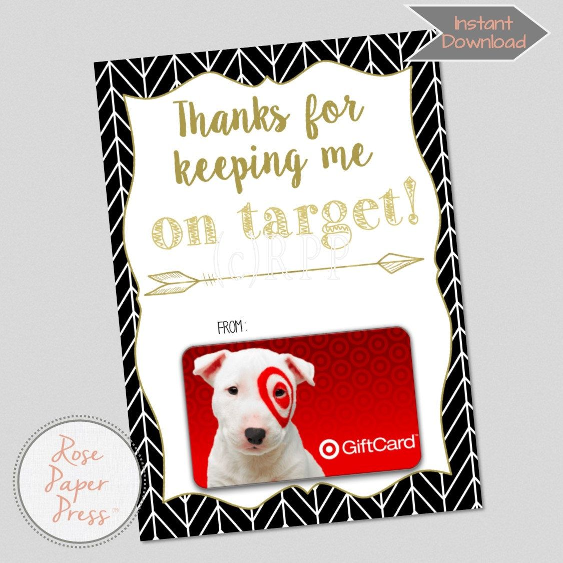 Teacher Appreciation Gift Card Holder Thanks For Keeping Me On - Target employee name tag template
