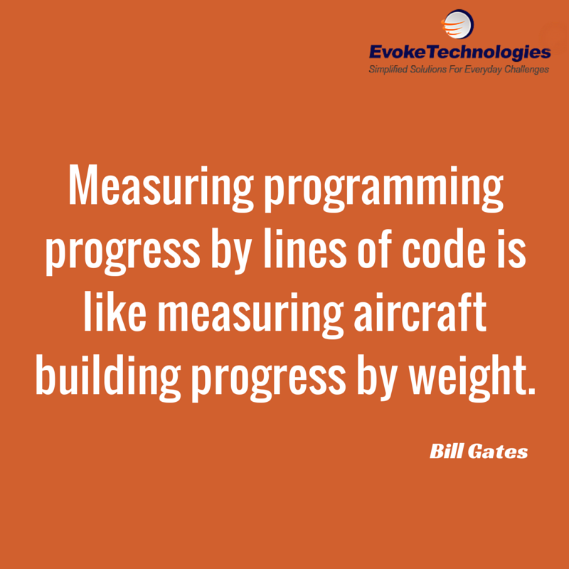 Measuring Programming Progress By Lines Of Code Is Like Aircraft Building Weight Bill Gates Quotes