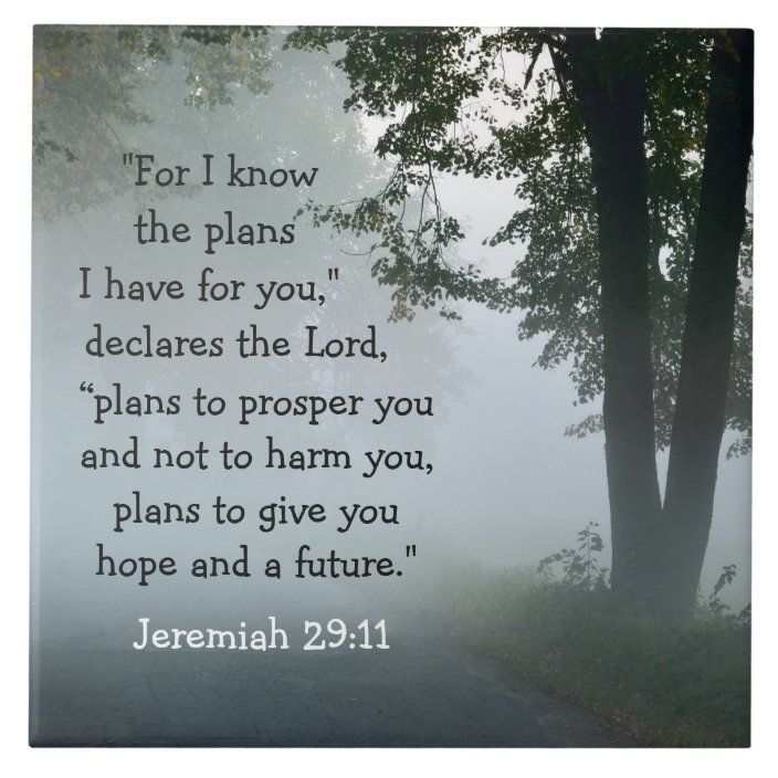 Jeremiah 29:11 For I know the plans I have for you Tile   Zazzle.com