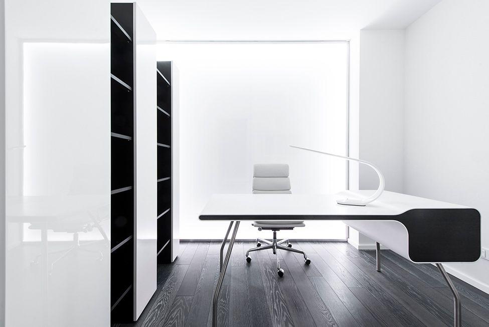 Futuristic axioma apartment in black and white by geometrix style
