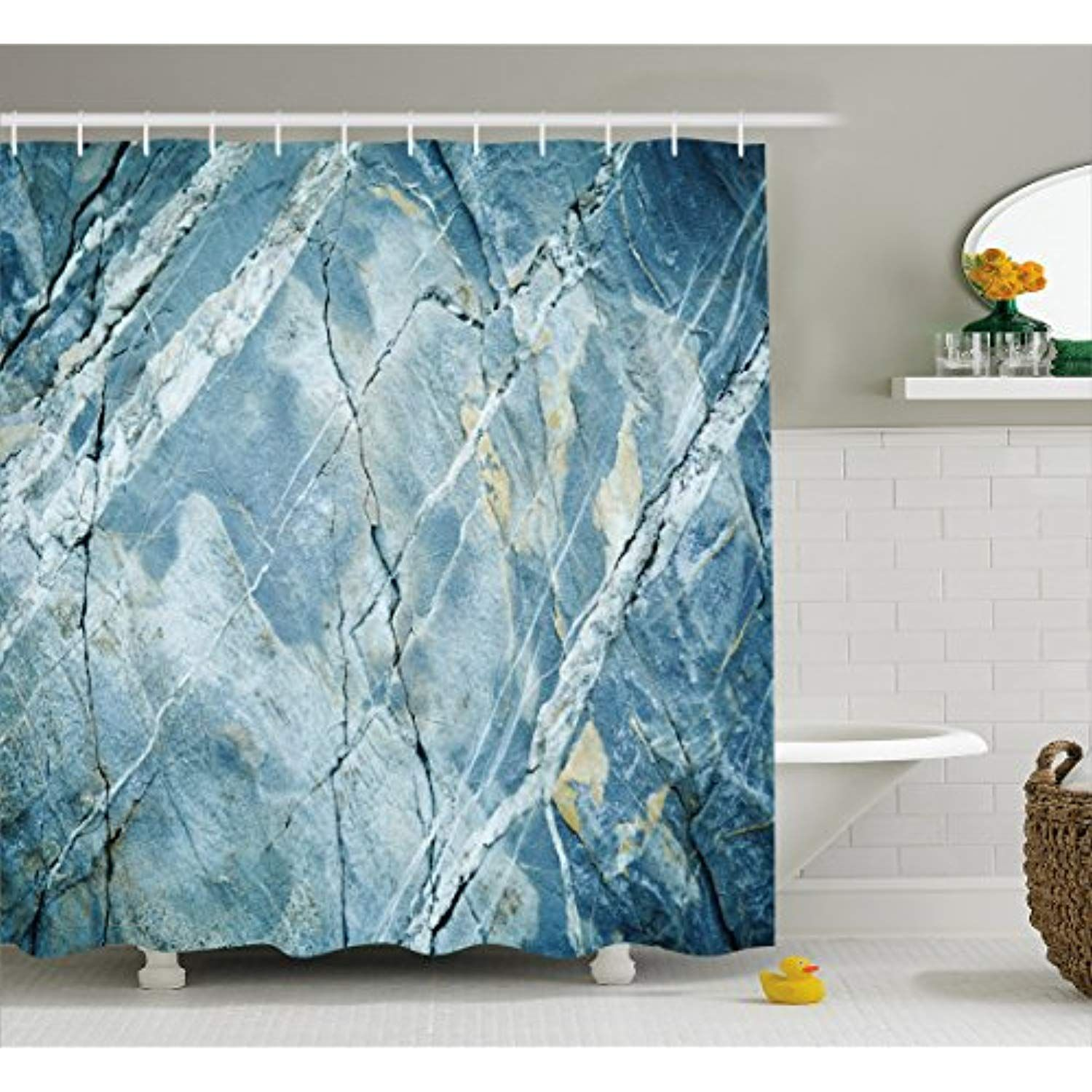 Ambesonne Waterproof Cloth Shower Curtain Batroom Decor with Hooks