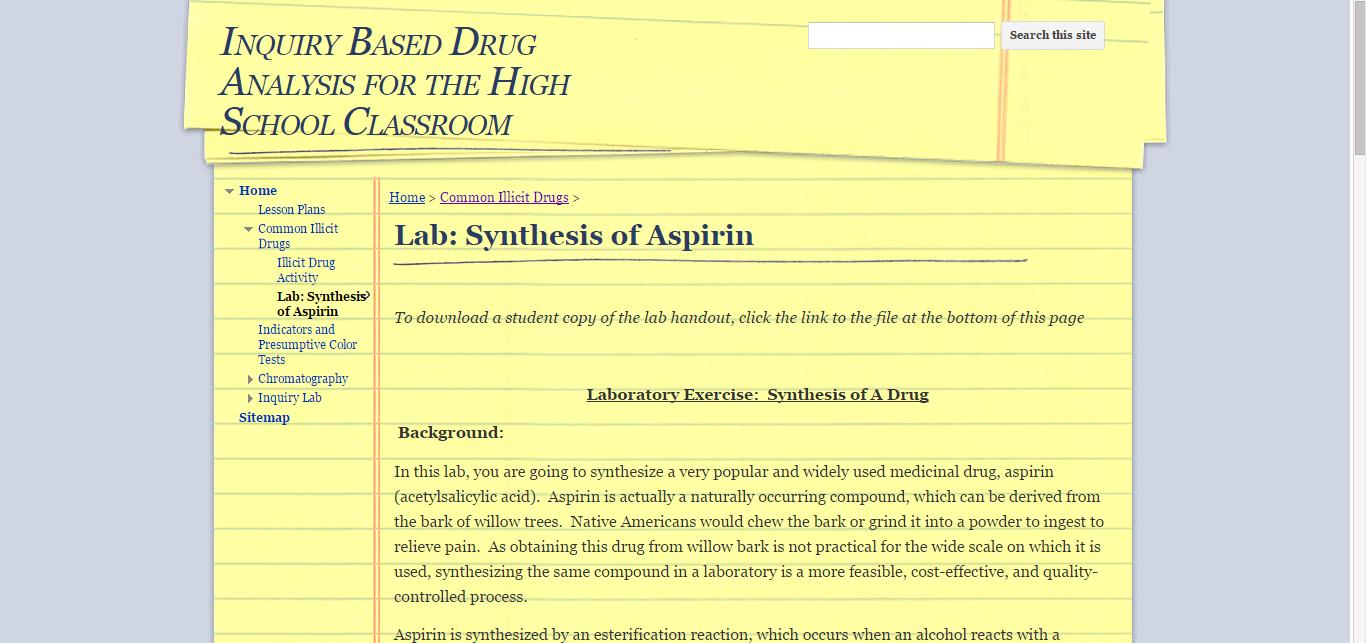 synthesis and analysis of aspirin