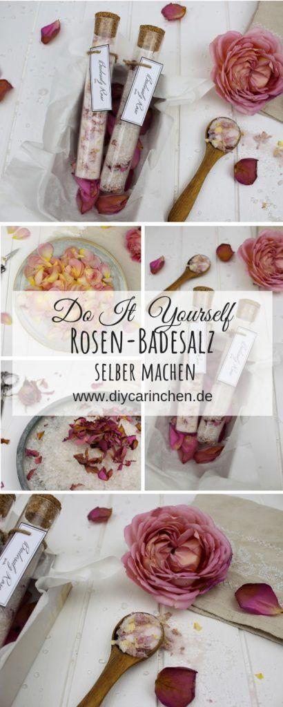 DIY - Badesalz Rose grob und fein selber machen