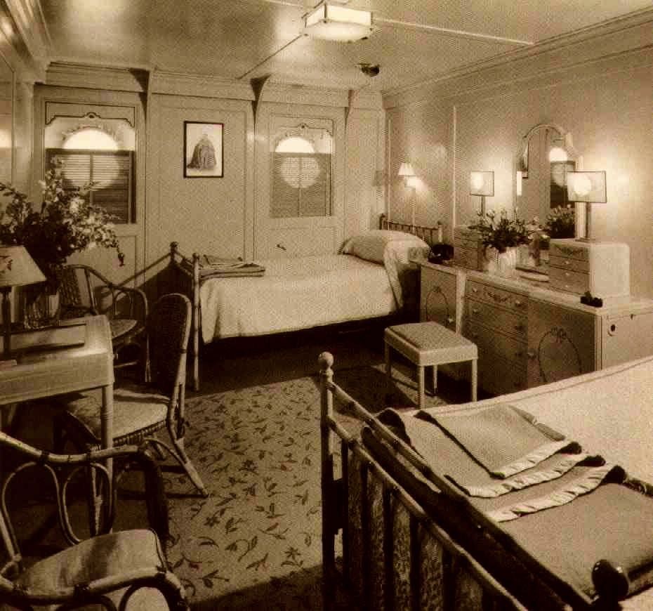 Hawaii Luxury Home Interior: First Class Stateroom On The Lurline In The 30s