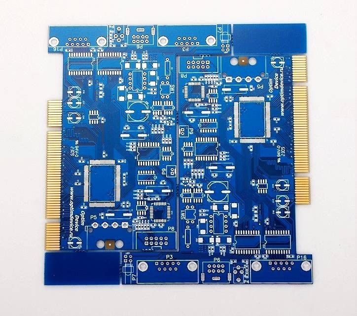 Pcb Board Manufacturing Pcb Prototyping Service Pcb Assembling Services Rayming Tech Gold Finger 4 Layer Pcb Board Printed Circuit Boards Circuit Diagram