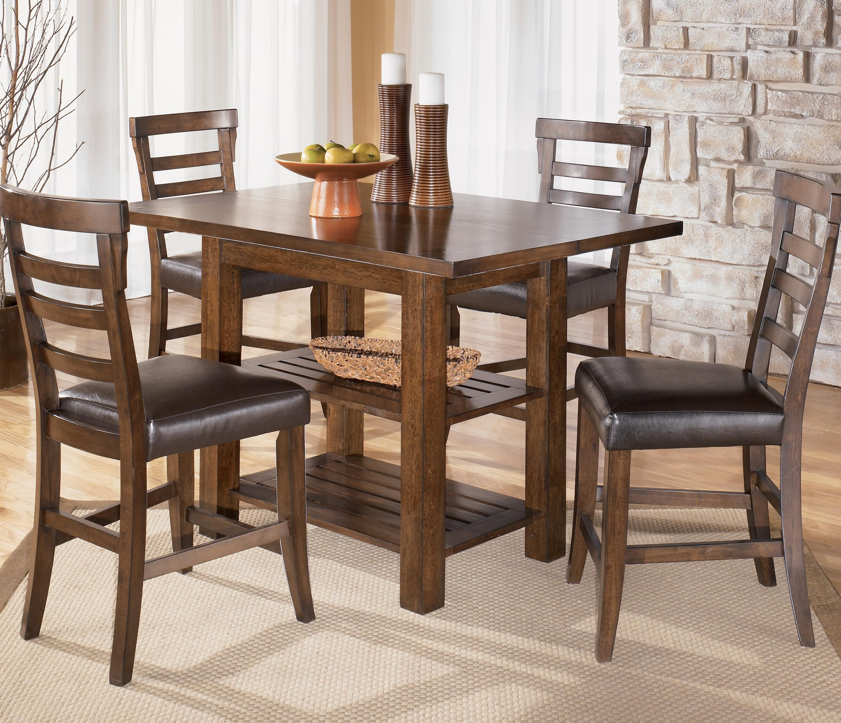 Kitchen Tables Furniture: Pinderton Square Counter Height Ext Table By Signature