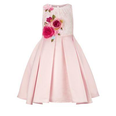 Monsoon Girls Pink Rosella Flowers Dress