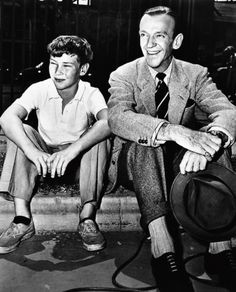 Fred Astaire with his son, Fred Jr  | (People: Family) The Astaires
