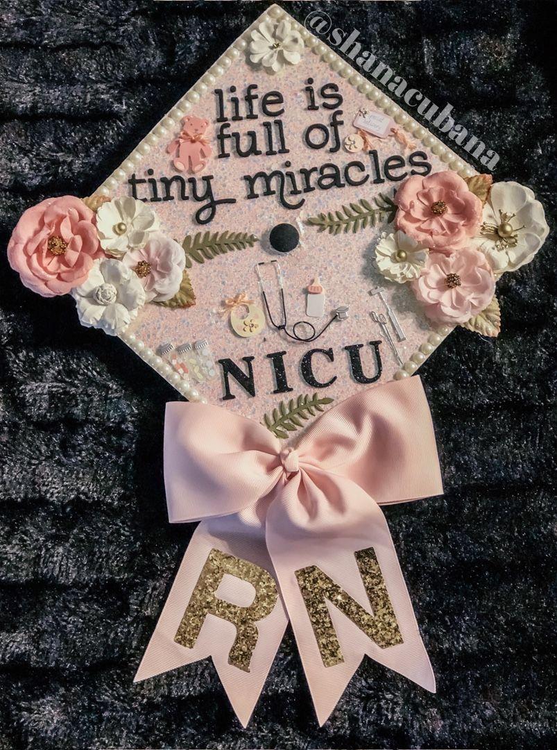 Nicu Nurse Graduation Cap Shanacubana Graduation Cap Decoration Nursing Graduation Cap Decoration Nurse Graduation Cap