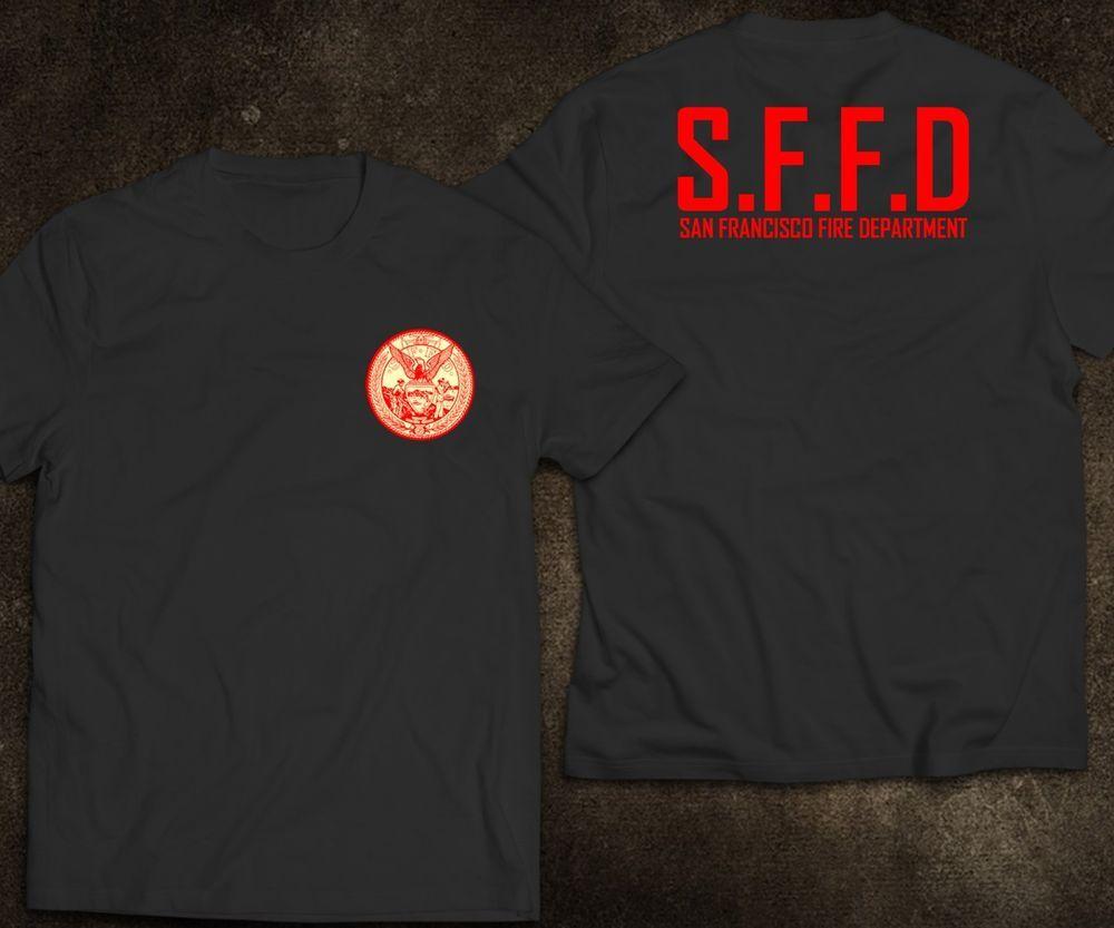New San Francisco Firefighter Fire Department Rare Firearm Logo T