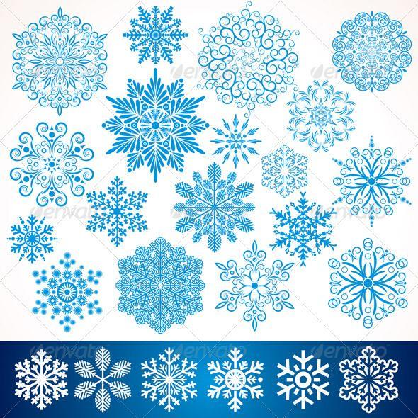 Artistic Vector Snowflakes 1.jpg 590×590 pixels