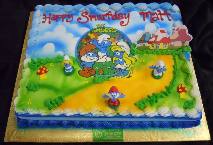 Smurfs Birthday Cake Pitufos Pinterest Birthday Cakes