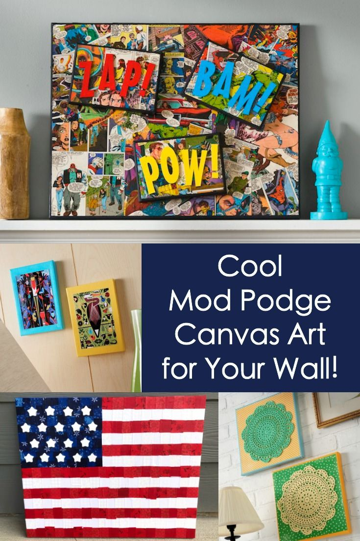 Mod podge canvas art ideas for your wall mod podge