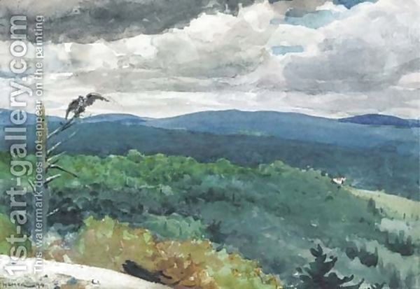 Hilly Landscape Winslow Homer Paintings Winslow Homer