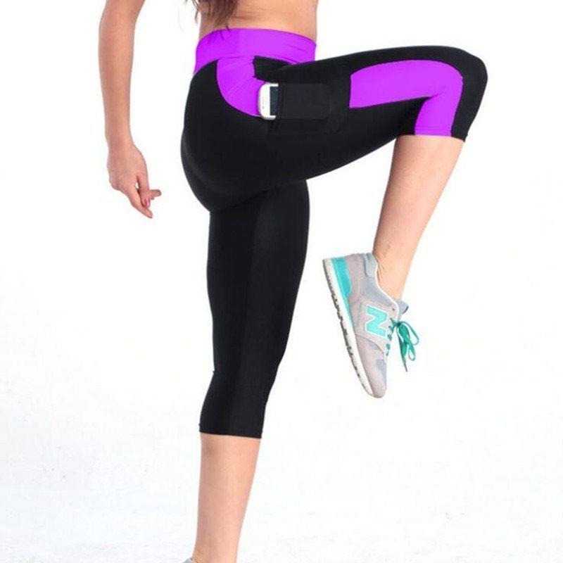 Women Short Leggings Thin Compression Trousers Elastic Stretch Mid Calf Legging Fashion Clothing S Leggings Are Not Pants Womens Capri Pants Summer Leggings