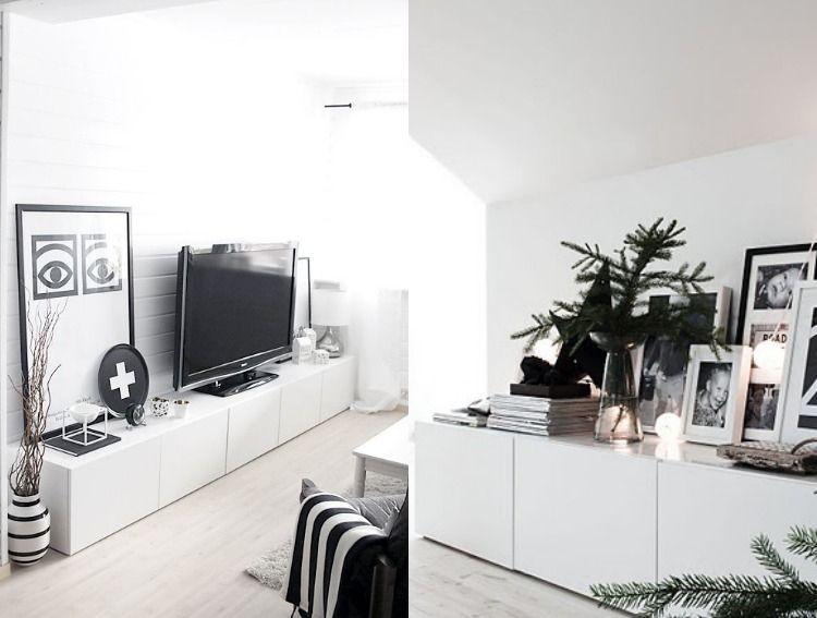 Ikea Besta  Regal Aufbewahrungssystem Weoss Minimalistisch Skandinaviscg Schwarz