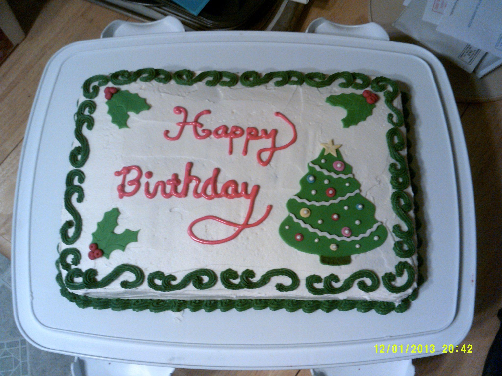 Christmas Birthday Cake Decemberbirthday Christmas Birthday