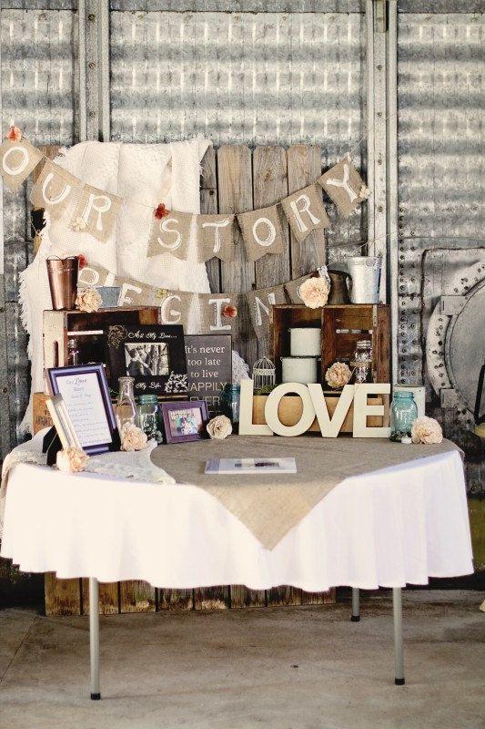 Our Story Begins Custom Burlap Wedding Banner