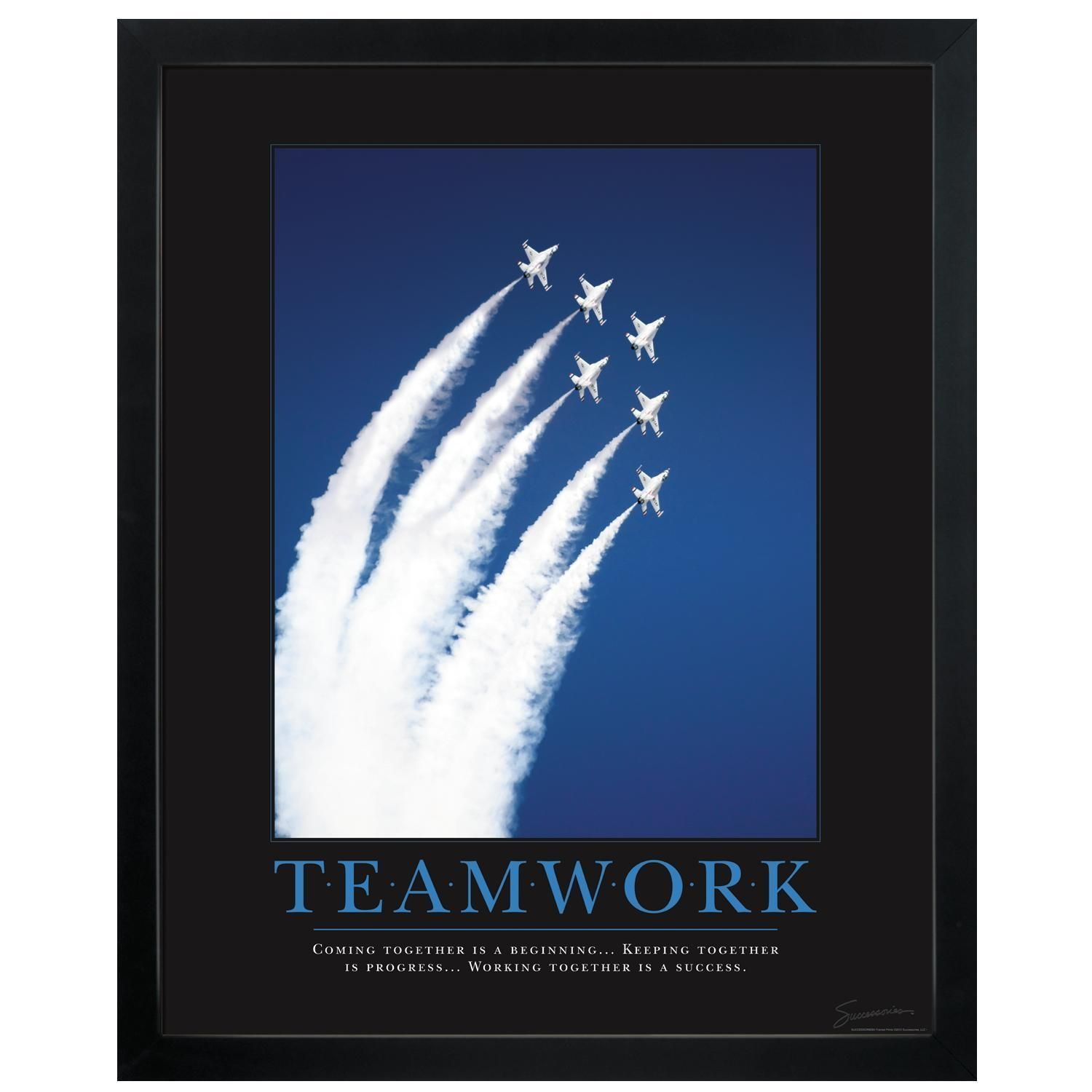 motivational office posters. Motivational Posters | Teamwork Jets Poster Office