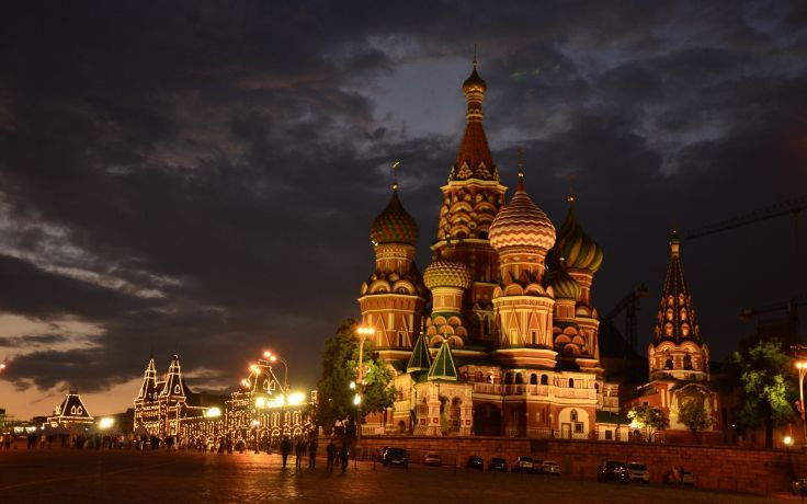 Moscow Russia St Basil S Cathedral Red Square Night City Temple Cathedral Wallpaper 2560x1601 125354 St Basils Cathedral Cathedral Night City