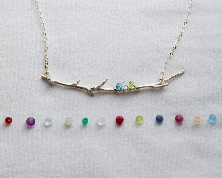 Family branch birthstone necklacemothers birthstone jewelry family branch birthstone necklacemothers birthstone jewelry aloadofball Images